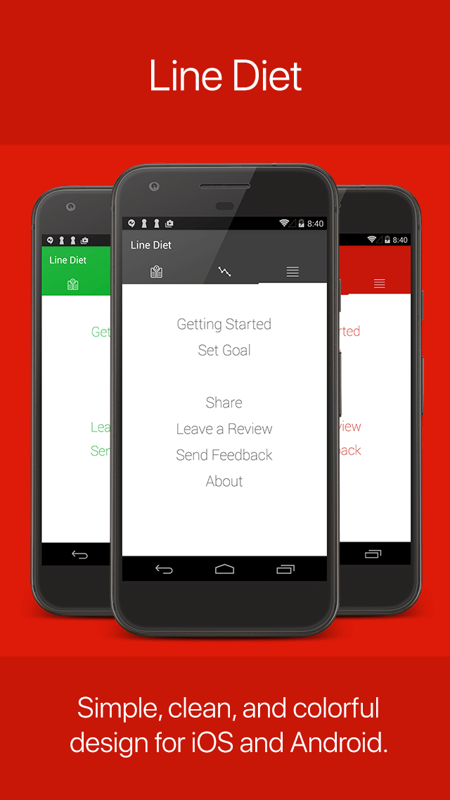 Line Diet - A Simple Weight Tracking App for iOS and Android